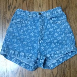 American Apparel High-Waisted Jean Shorts
